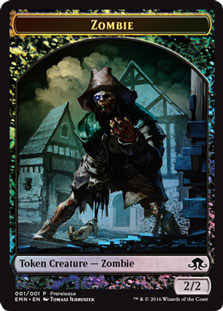 [Zombie Token] (Eldritch Moon Prerelease) (Double-Sided)